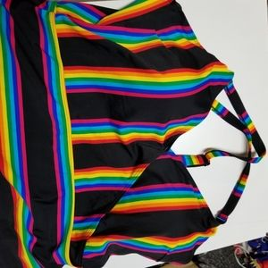 torrid Swim - 41PC RAINBOW STRIPE SURPLICE